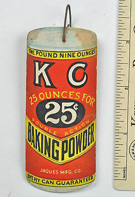 Most unique KC BACKING POWDER Tag made by DENNISON FAN PULL ? trade card litho