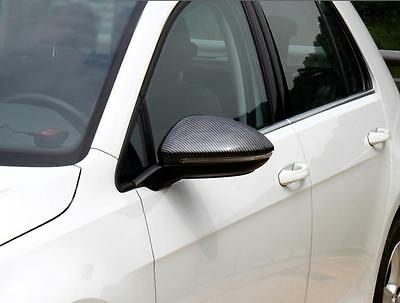 Shiny Gloss Carbon Style Mirror Casing For Vw Golf 7 # Mk031