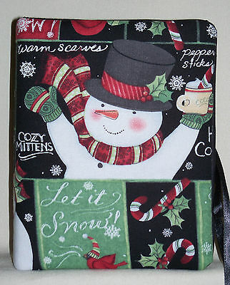 "Christmas Snowman and Candy Canes Handcrafted Photo Album Holds 80 4""X6"" - NEW"