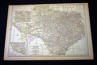 Antique Map 1929 Texas or Utah