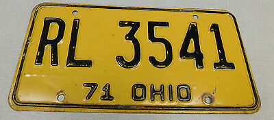 1971 Ohio passenger car license plate