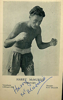 HARRY McMURDIE Signed Photograph - Auction House COA British Boxing Lightweight