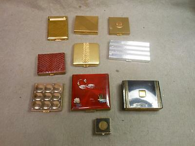 Vintage Ladies Compacts Lot Of 10