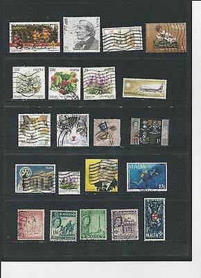 MALTA - SELECTION OF USED STAMPS - MLT26ab 2 photos