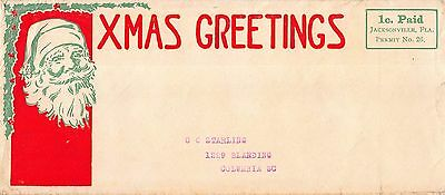 Christmas Cover Santa Claus Face with Xmas Greetings~109244
