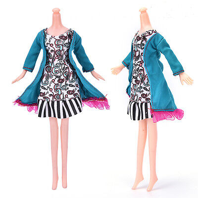 """Fashion Beautiful Handmade Party Clothes Dress for 9"""" Barbie Doll Best CA"""