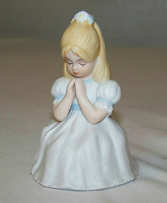 c1987 Enesco: FIRST COMMUNION -Praying BLONDE Girl