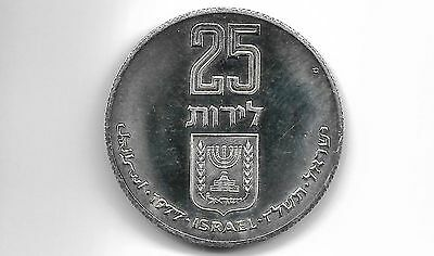 Israel 1977 25 Lirot Pidyon Haben Silver Proof Coin (L 175)