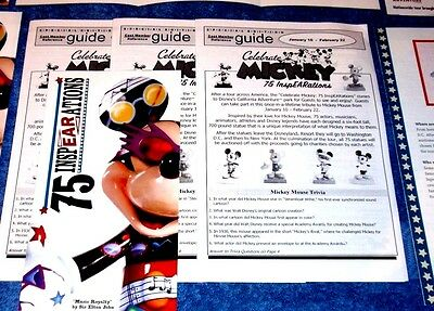 Disneyland Cast Reference Guide For Coca Cola Celebrate Mickey 75 Inspearations
