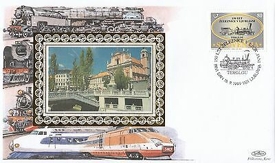 (94301) Slovenia Benham Cover Trains Ljubljana16 September 1999