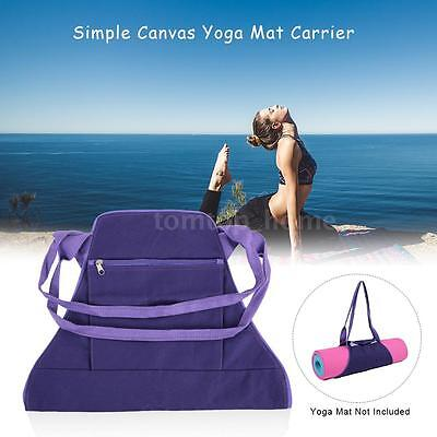Yoga Mat Carrier Exercise Yoga Mat Bag w/ Storage Pockets Multi-Functional I7V3