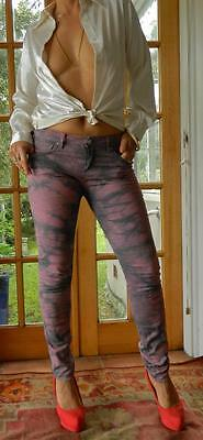 VINTAGE FC Jeans Rock Chic Tie Dye Look Sexy Skin Tight Jeans