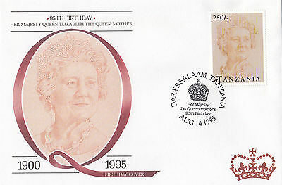 (94818) FDC Tansania Queen Mother 95th Geburtstag 1995