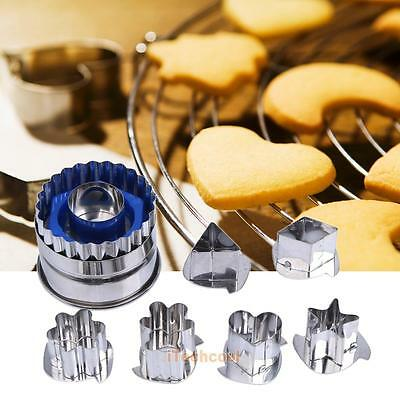 7pcs 3D Stainless Steel Biscuit Cookie Cake Pastry Fondant Mold Mould Cutter DIY