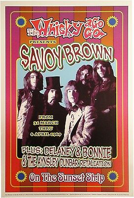 Savoy Brown Whisky a Go Go 13x19 UNSIGNED Poster