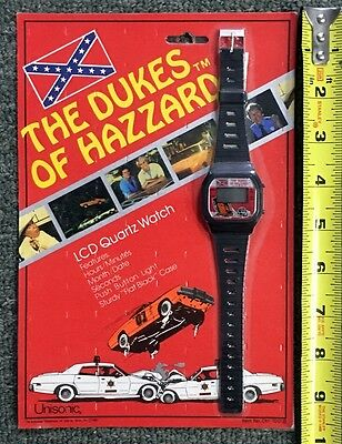 1981 Dukes Of Hazzard *unisonic* Lcd Quartz Watch Unused Sealed In Pkg.