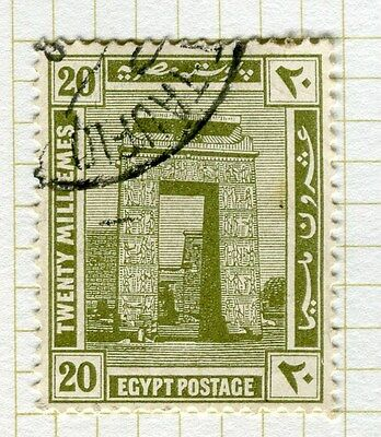 EGYPT;   1921-22 early Pictorial issue fine used 20m. value