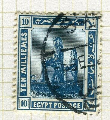 EGYPT;   1921-22 early Pictorial issue fine used 10m. value