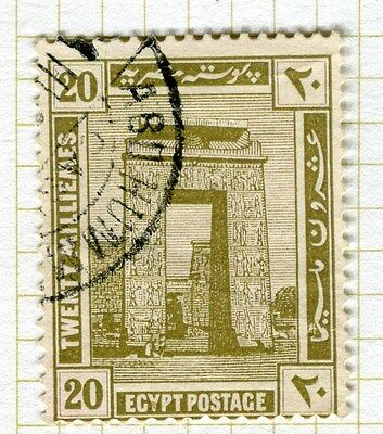 EGYPT;   1914 early Pictorial issue fine used  20m. value