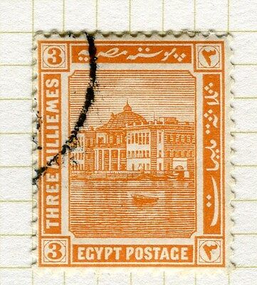 EGYPT;   1914 early Pictorial issue fine used  3m. value