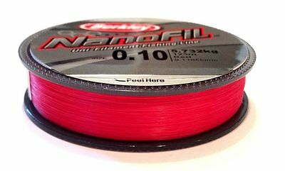 Berkley Nanofil 125m spools Uni Lo Vis Red Filament Line - CLOSING DOWN SALE!