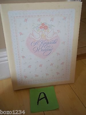 VINTAGE CARLTON A KEEPSAKE OF OUR WEDDING ALBUM BINDER 26pgs PHOTOS MEMORIES ++