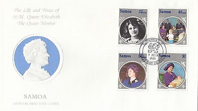 (94951) Samoa FDC Queen Mother Leben & Mal 7 Juni 1985