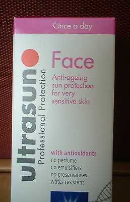 Ultrasun 50ml SPF30 Face Sun Cream Lotion Sensitive Skin New Sealed Boxed SPF 30