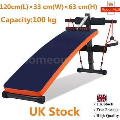 Sit Up Bench Abdominal Crunch Ab Exerciser Home Gym Training Machine By
