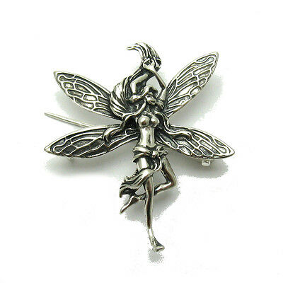 Sterling Silver Brooch Solid 925 Fairy New