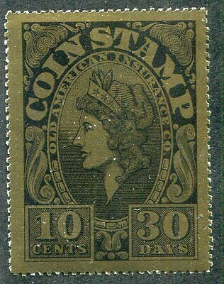 COIN STAMP  10 Cents  30 Days  Mint  Never  Hinged  Cinderella   UPTOWN 13052
