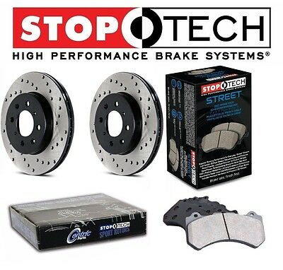 NEW Mercedes W202 W209 StopTech Rear Drilled Brake Rotors Street Pads Set Kit