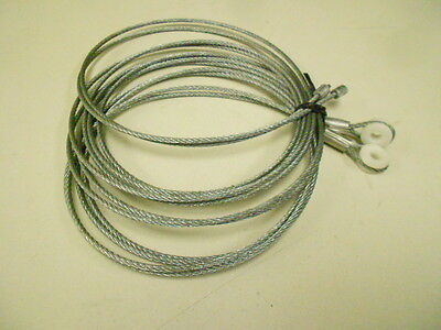 "Cbl1/4X115 Trailer Galvanized Roll Up Door 115"" 1/4 Inch Eye Cable Set Of 2"