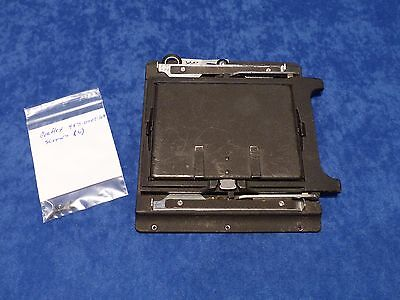 Graflex 4X5 Graflok Back Complete W/screws - Speed/crown Graphic - Very Nice !