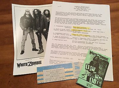 WHITE ZOMBIE: Vintage Concert Contract, Backstage, Ticket, etc.