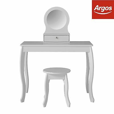Mia Dressing Table and Stool - White. From the Official Argos Shop on ebay