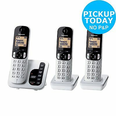 Panasonic Cordless Telephone with Answer Machine - Triple - Silver -From Argos