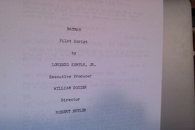 BATMAN 66 TV Series Pilot Script 1st Riddler Appearance