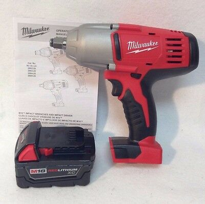 """Milwaukee 2663-20 18V 1/2"""" High Torque Impact Wrench w/ Friction Ring & 3.0 Ah"""