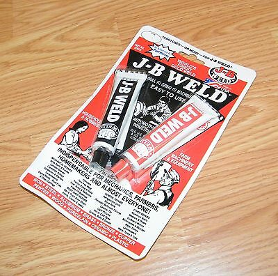 Genuine J-B Weld (8265-S) Steel & Hardener 1 oz Tubes Epoxy Cold Adhesive *READ*
