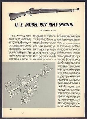 U.S. Model 1917 Enfield Rifle Exploded View Parts List 2-page Assembly Article