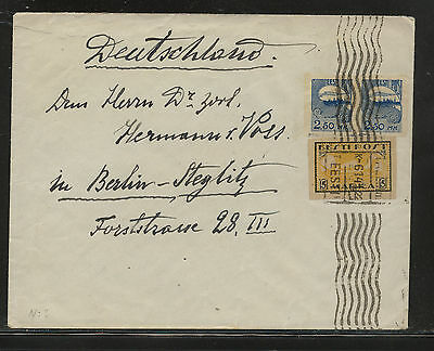 Estonia  imperf  stamps on cover to Germany  1922               RL0803