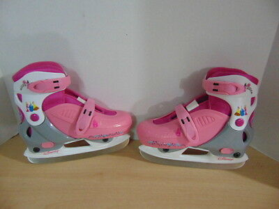 Ice Skates Children's Size 13-2.5 Adustable Disney Princess Pink Grey