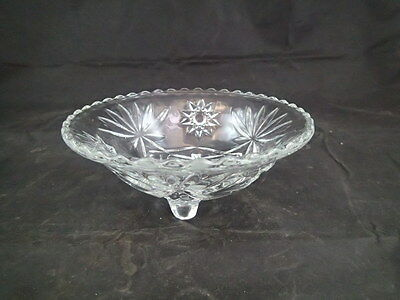 Vintage Star of David 3 Footed Candy Dish Bowl; EAPG Anchor Hocking