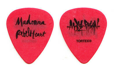 Madonna Monte Pittman Signature Red Guitar Pick - 2016 Rebel Heart Tour