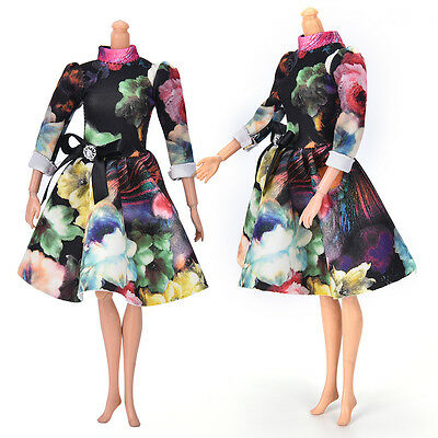 """2016 Fashion Beautiful Handmade Party Clothes Dress for 9"""" Barbie Doll Mini Best"""