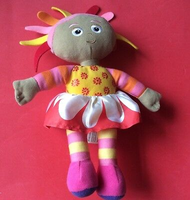 """SOFT TOY.   UPSY DAISY FROM INTHE NIGHT GARDEN. 10"""" tall. golden bear products"""