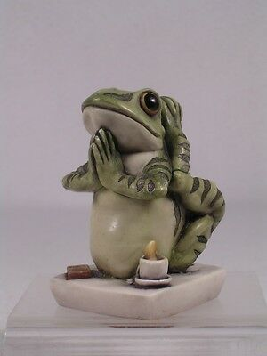 Harmony Kingdom 'Soul Mate V-1' Yoga Frog Low Ed #100  #TJFR10-1  New In Box