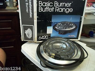 New Toastmaster Basic Burner 6420 Buffet Range Stove Electric Indoor Made In Usa