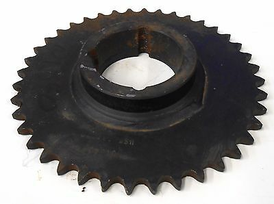 "Unknown Brand Roller Chain Sprocket 40Tb40, 2 1/4"" Bore, 40 Teeth, 6 11/16"" Od"